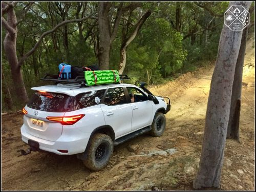 Rola Titan Tray on a Toyota Fortuner. Loaded wit camping gear and 4wd gear