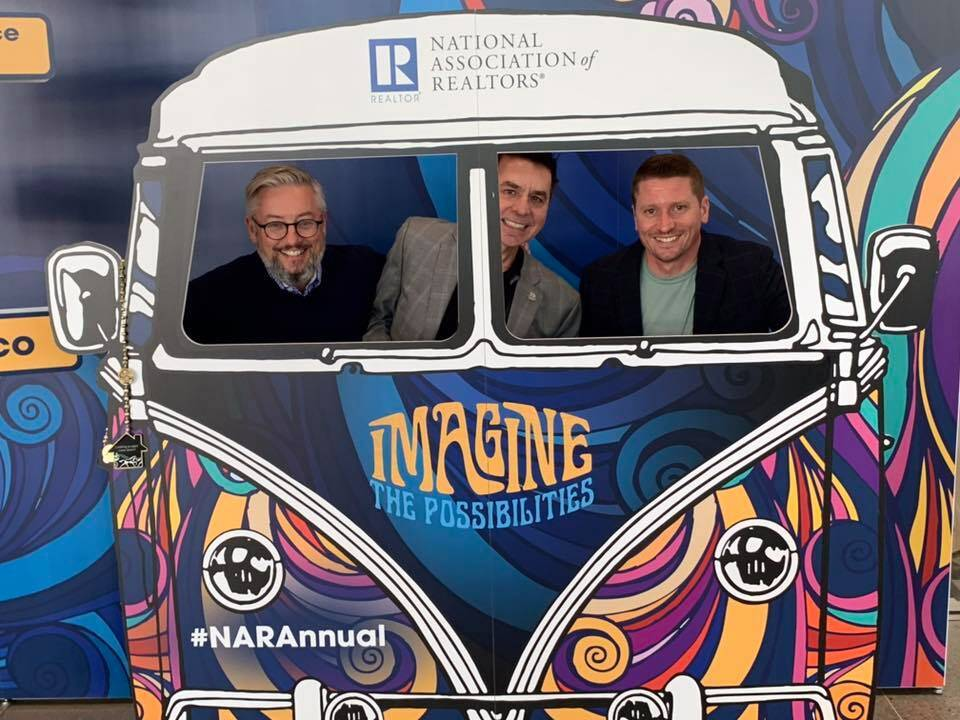 Dan Stewart, John Mangas and Jared James in action! National Association of REALTOR Annual Conference San Francisco 2019