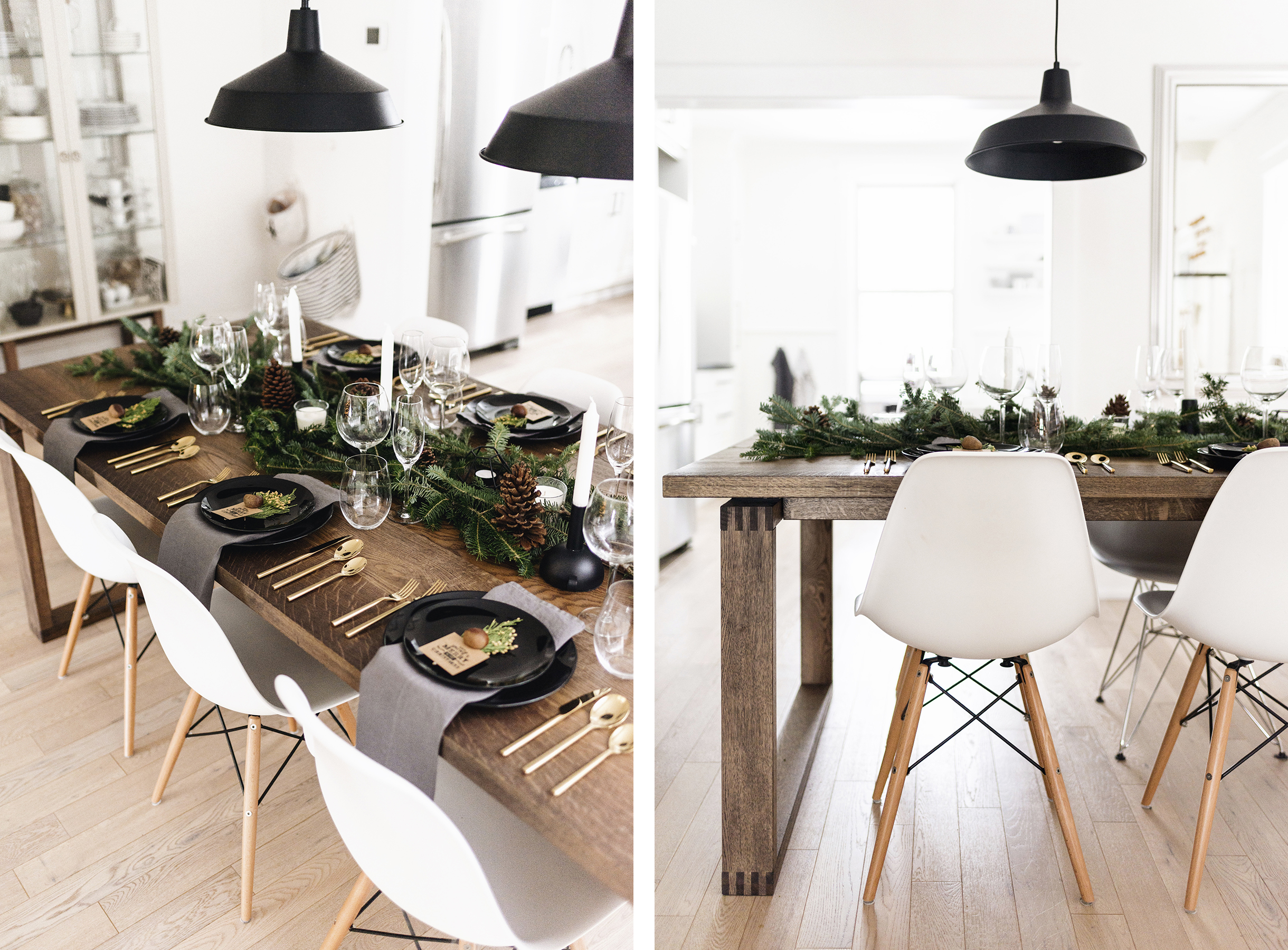hanging chairs ikea office chair orange modern + classy christmas tablescape | happy grey lucky