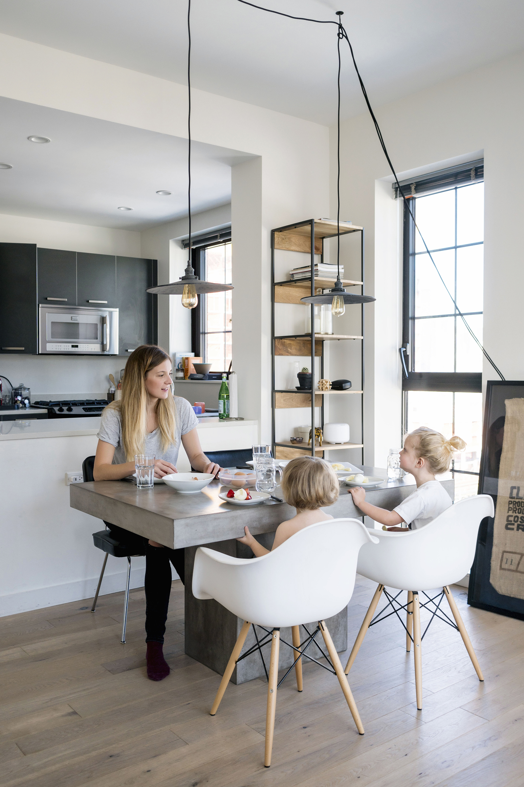 ikea stool chairs best executive office chair a scandinavian, industrial interior in nyc | happy grey lucky