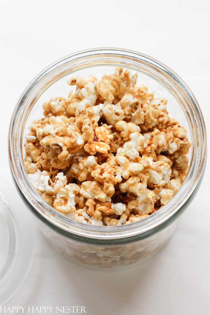 popcorn bar for a party include caramel popcorn