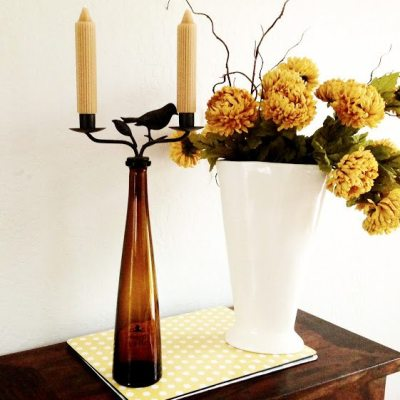 Wine Bottle Candles Sticks