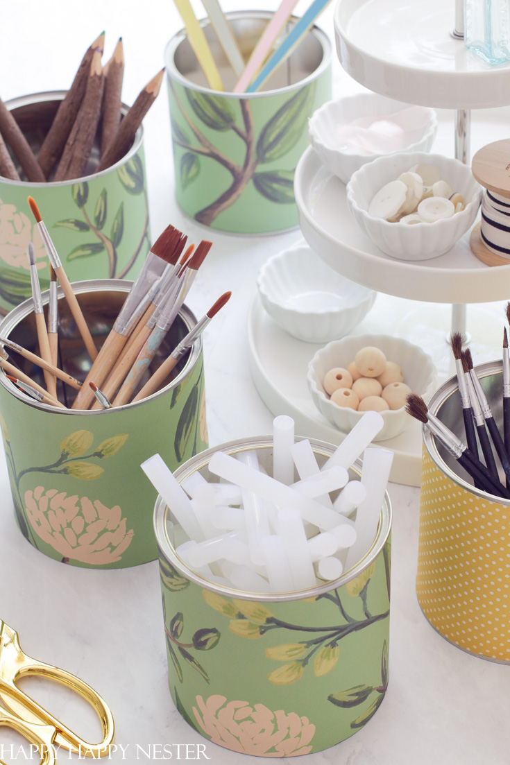 upcycling tin cans project