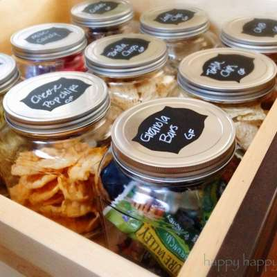 Chalkboard Labels for Organizing