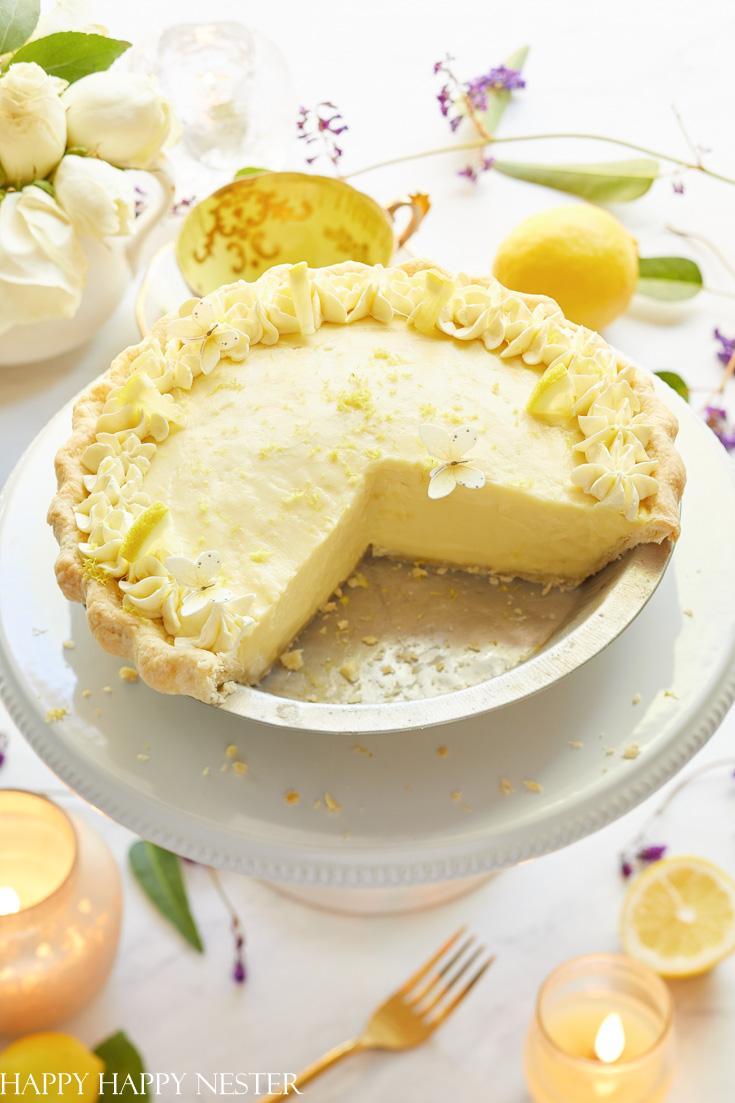 the best lemon sour cream pie recipe