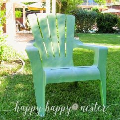 How To Paint Plastic Chairs Air Pump Chair Annie Sloan Chalk And Outdoor Happy Nester Here Is Our Original Adirondack It Had A White Powdery Residue That I Cleaned Off The Surface With Wet Rag Also Took Little Sand Paper