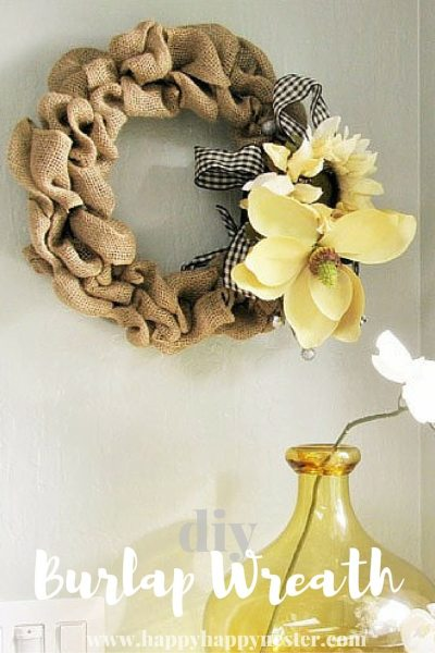 burlap wreath pin
