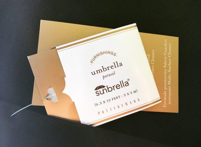 sunbrella umbrellas tag