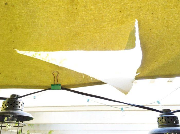 sunbrella umbrellas close up of rip