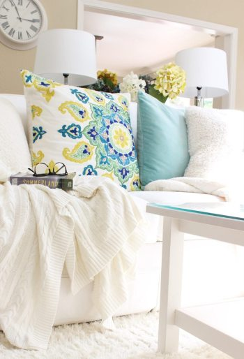 Five tips to brighten your home. These are easy things you can add to your home to celebrate the beautiful summer days. All these ideas are easy and doable.