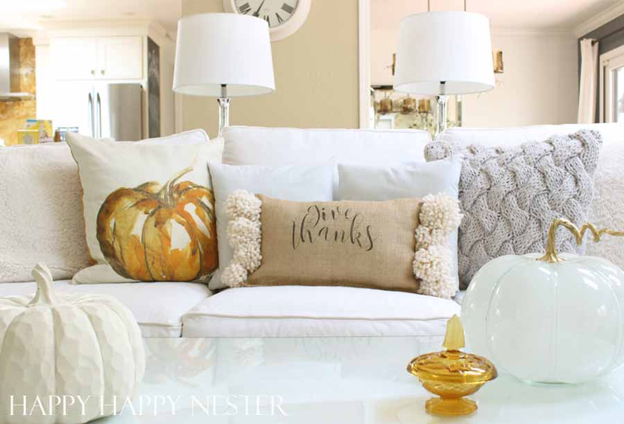 pottery barn water color pumpkin pillow