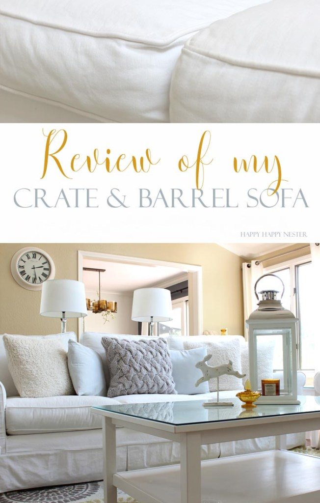 A honest review of my Crate & Barrel Sofa. It is the best sofa and has held up for three years. If you are thinking of buying one, and not sure about what to buy, make sure to read my review. This home decor item is a big investment and you want to do your sofa research.