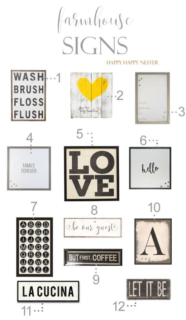 Farmhouse signs are such great additions to any home. Shop my 12 signs that I have collected just for you. I have a few in my home and I love them!
