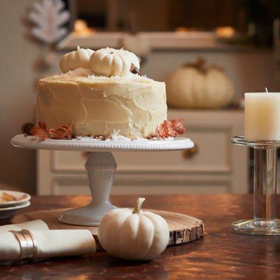 Italian Cream Cake with a Twist of Pumpkin