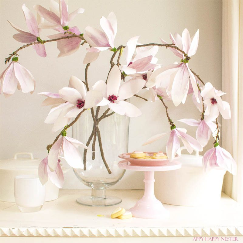 Paper Flower Tutorial Magnolia Flowers Happy Happy Nester