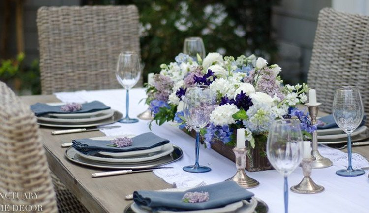Here are some fun spring ideas with blue home decor as the focus. I chose a coastal theme that integrates aqua accents and Sanctuary Home shows off her gorgeous blue tablescape with vibrant blue flowers. All these are welcoming in spring with open arms. #homedecor #home #bluehomedecor #springdecorating #decorating