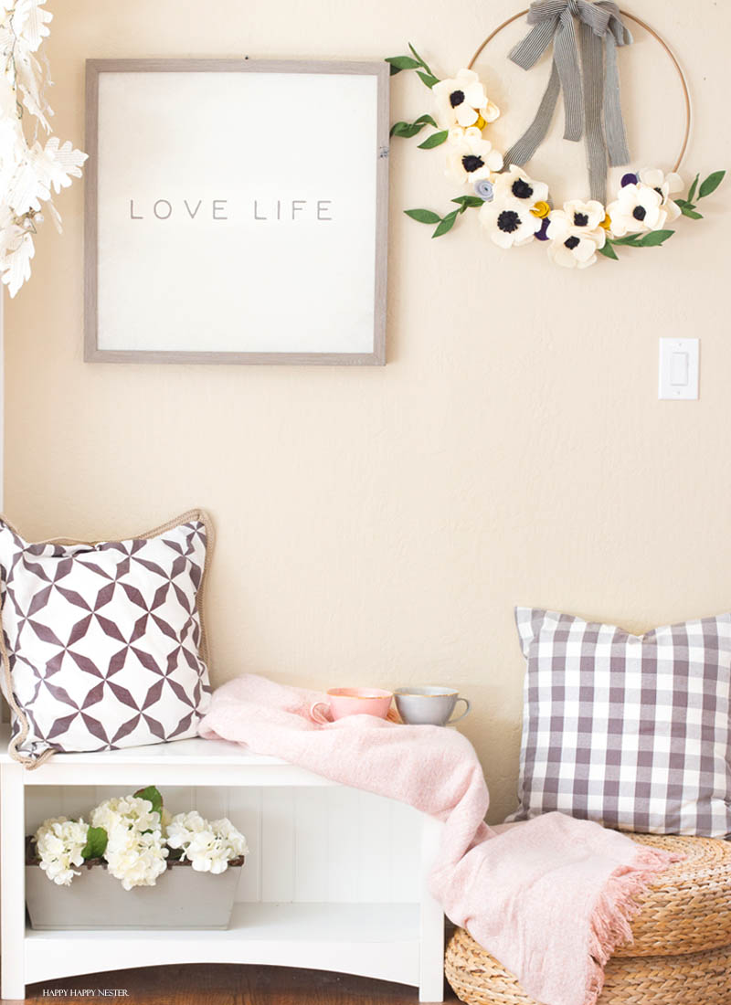 how to make felt flowers for a wreath