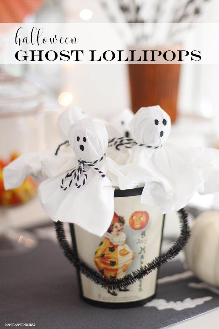 ghost lollipop pin