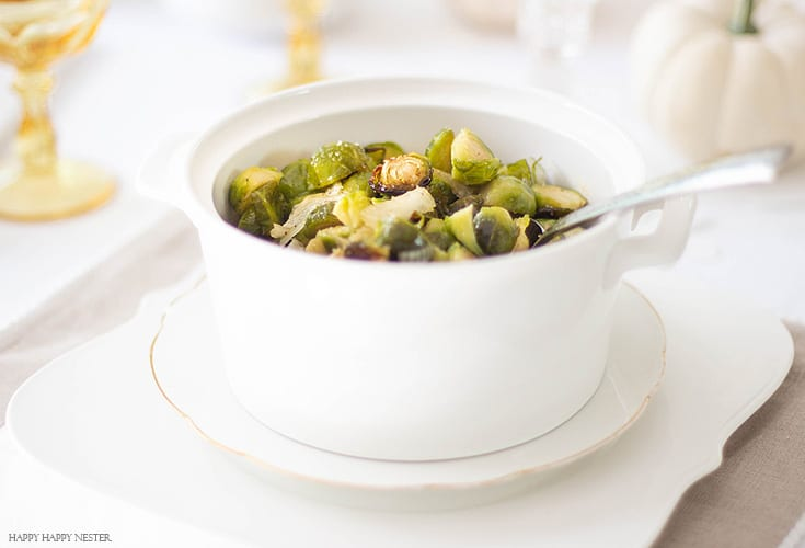 How to prepare and cook fresh brussels sprouts from this recipe