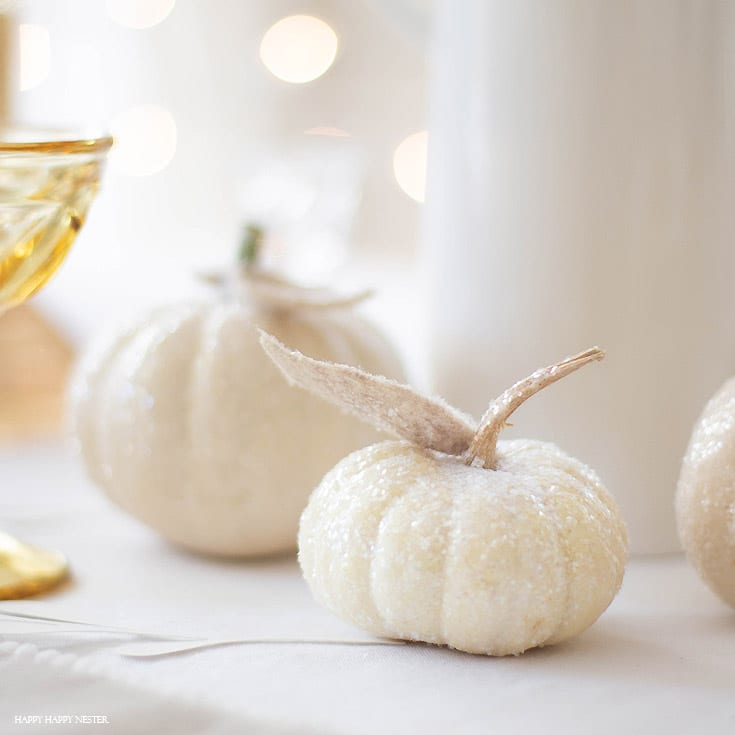 how to make glitter pumpkins for fall