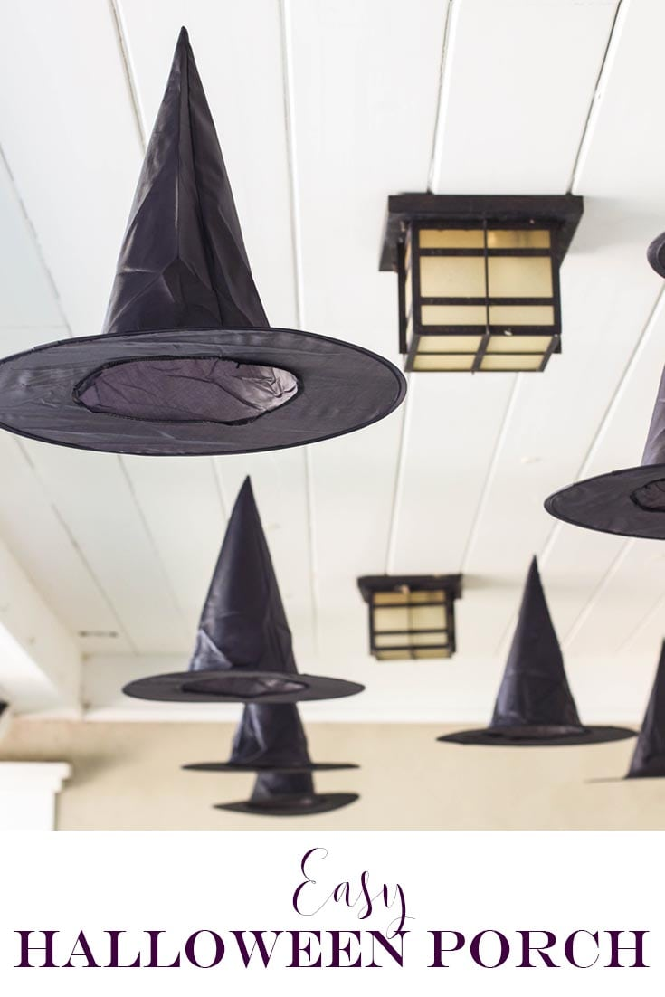 black witches hats hanging from ceiling pin for pinterest