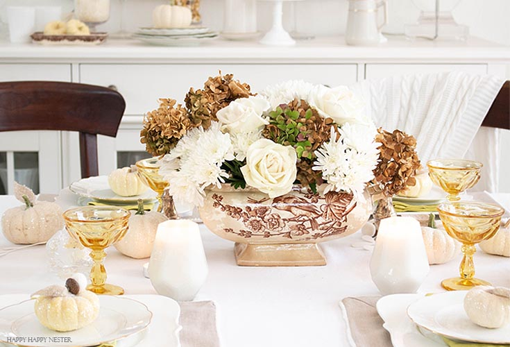 inexpensive thanksgiving table decor