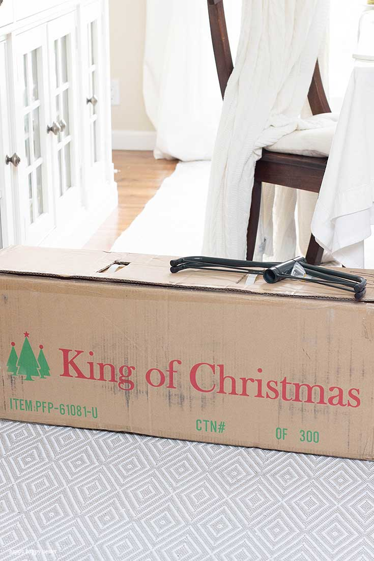 how to put together a king of christmas tree