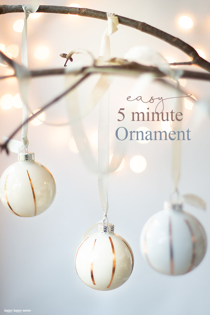 If you are looking for an easy 5-minute ornament to make, than this Easy Washi Tape Christmas Ornament DIY is just for you. You only need three items and just a couple of minutes to make this Christmas craft. Craft | Crafts | Christmas Ornament | Washi Tape Craft | Easy Craft | Christmas Ornament DIY | 5 Minute Craft