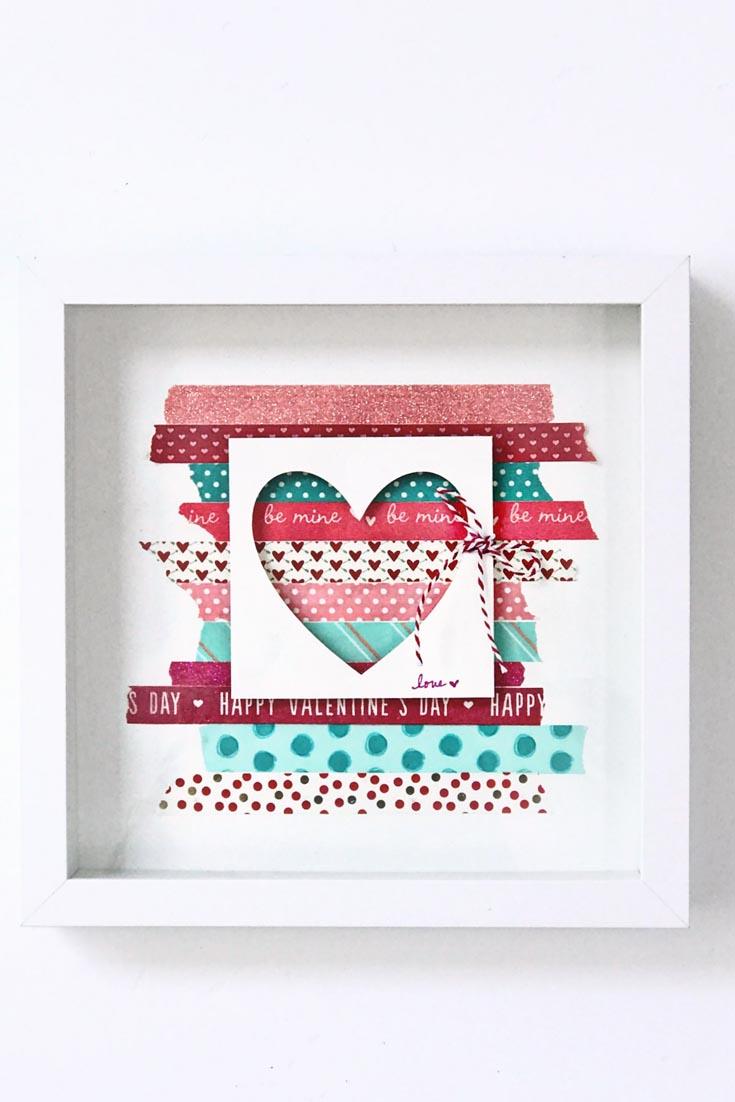washi tape Valentine's Day Decor