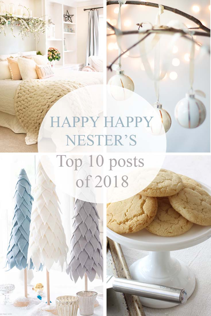 This is a Countdown of Our Top Posts of 2018 Happy Happy Nester. It is a combination of crafts, decor, and recipes and I think you'll like this great list. It is always great to take note and add more great quality posts for the new year. Blog Posts | Recipes | Decor | Crafts | Best Blog Posts |