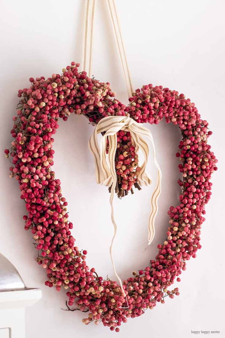 DIY Heart Wreath Tutorial