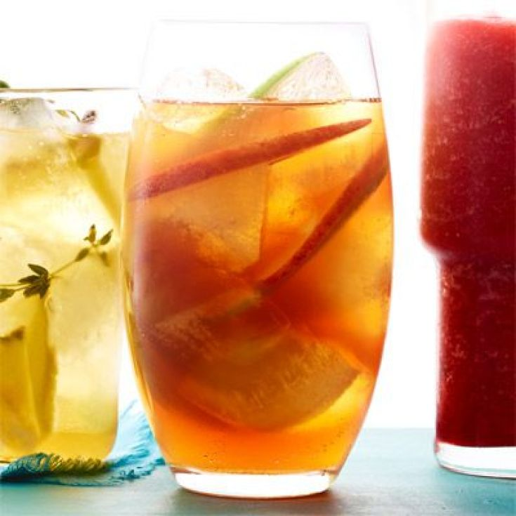 Double Apple Ice Tea. Here are 10 Non-Alcohol Summer Drinks that you'll love. Need some recipes this summer, well, we have you covered if you need slushies, teas, fruit drinks and more. These bloggers have tested them, and these are their favorites. #drinks #summerdrinks #cocktail #drinkrecipes #recipes #happyhour #weddings #weddingdrinks