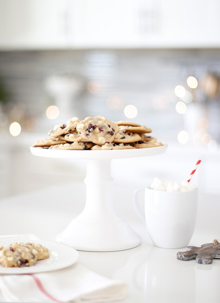 Cranberry White Chocolate Chip Cookies Recipe. Here are 10 Comfort Food Cookies that are family favorites. There is such a wide variety of cookies that I'm sure you'll enjoy some of them. If you like chocolate chip, peanut butter, molasses, almond and biscotti than you'll love this collection. #cookies #bestcookies #baking #recipes #cookierecipes #chocolatechip