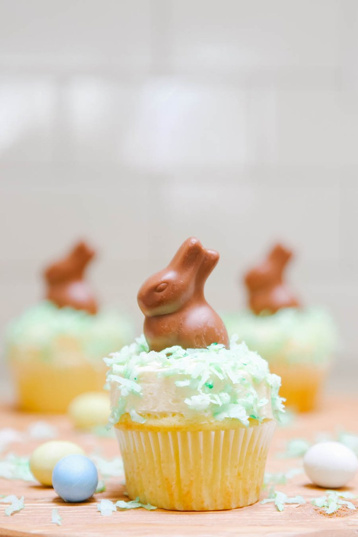 These adorable Chocolate Bunny Cupcakes are perfect for Easter.