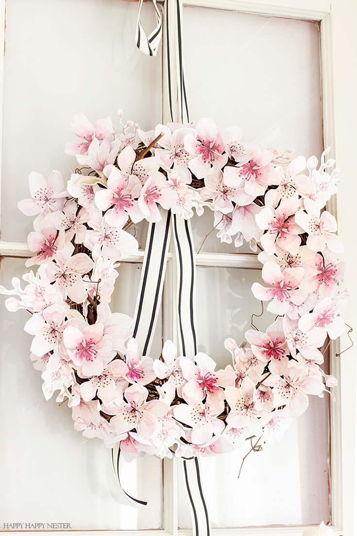 paper flower wreath diy