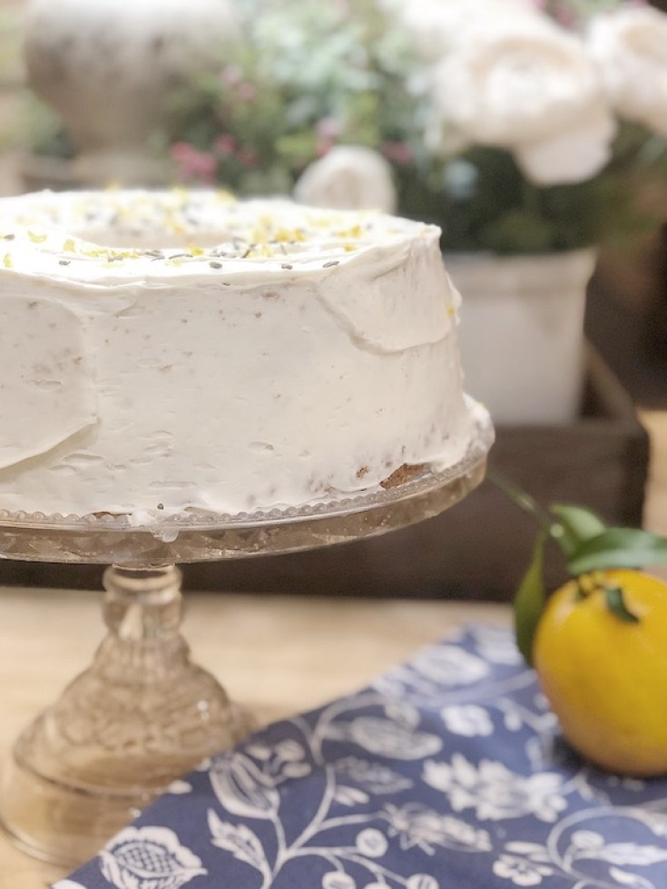 This luscious Lemon Lavender Cake is inspired by the Magnolia Table Cookbook recipe.