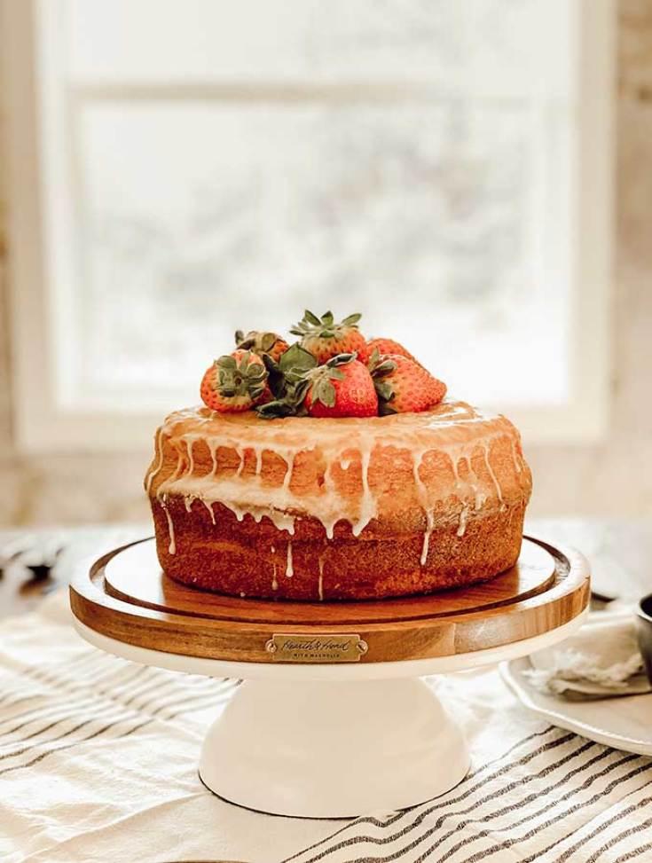 Lemon Bundt Cake by Magnolia Table looks perfect for an Easter or Spring dessert.