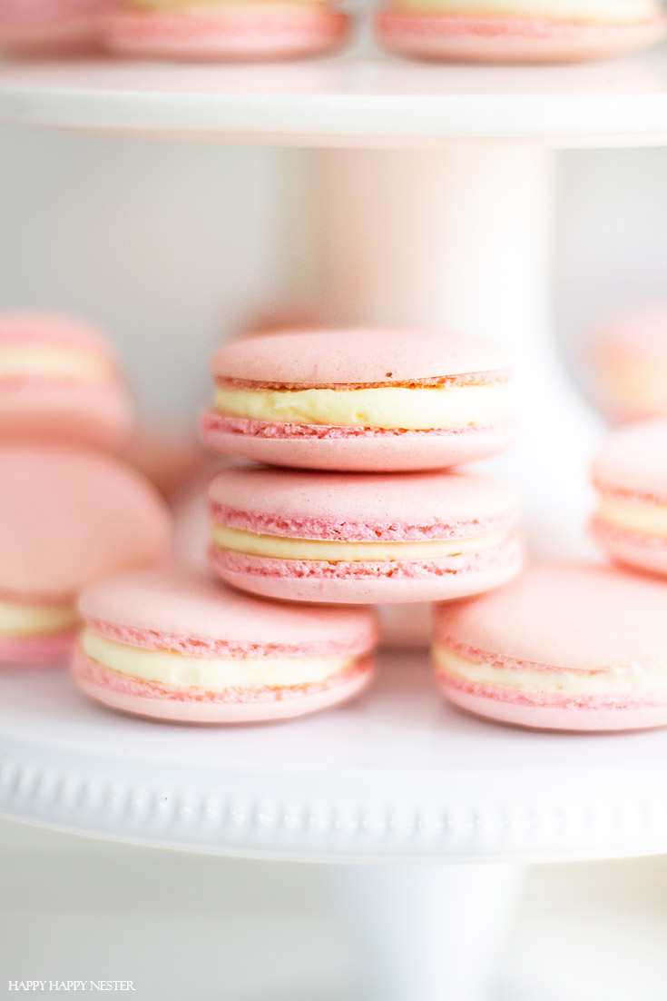 I have been obsessed with finding The Best Basic French Macaron Recipe for what feels like an eternity! I'm happy to say that I mastered baking them. This yummy recipe combines the meringue cookie with a buttery French sabayon filling. #macaron #cookie #frenchmacaron #meringue #italianmeringue #baking #bestcookie #bake