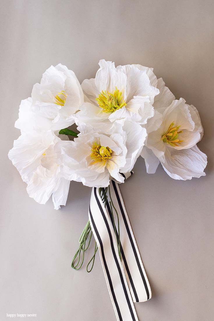 How To Make Crepe Paper Flowers Happy Happy Nester