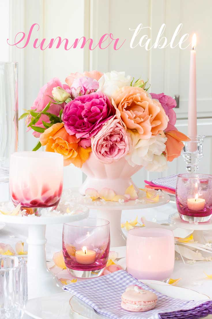 A Summer floral table setting