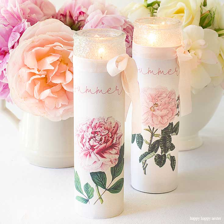 Make these pretty summer candles for your table. My Casual Table Setting Ideas For Every Day is easy to create if you have just a few items. Find out the elements you need to create a pretty summer table. #summer #summerdining #dining #tablesetting #tabledecor #decorating