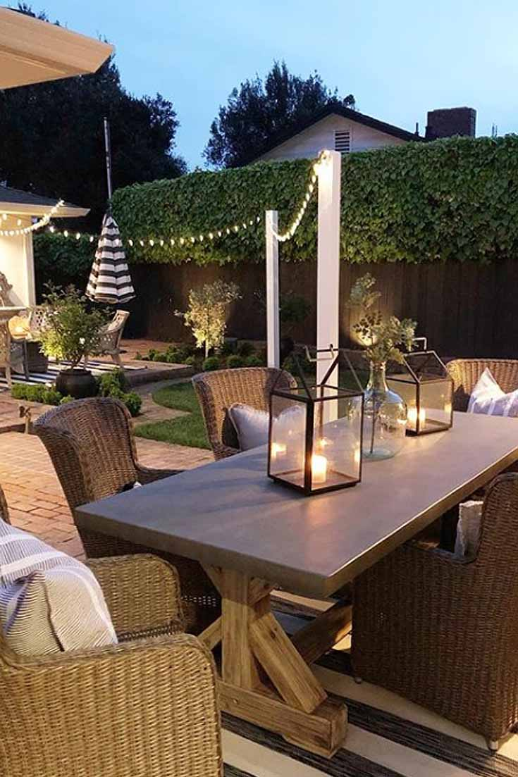 Choose to stain your light poles or keep then natural. #outdoorprojects #patiodiy #outdoorlights