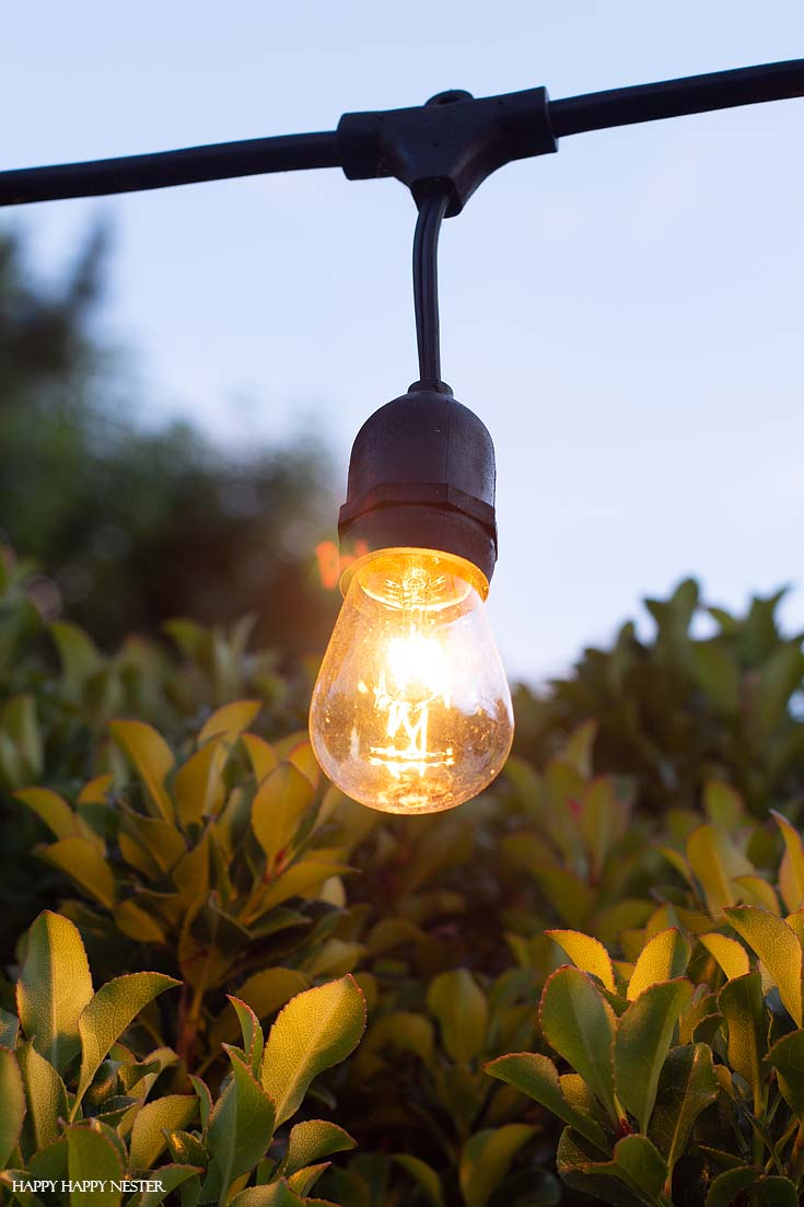 How To Hang Outdoor String Lights Happy Happy Nester
