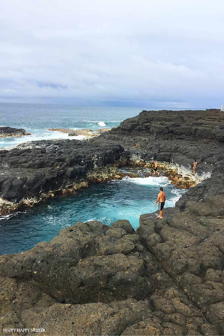 Queen's Bath in Kauai Hawaii is a bit dangerous, so make sure to be safe when swimming.