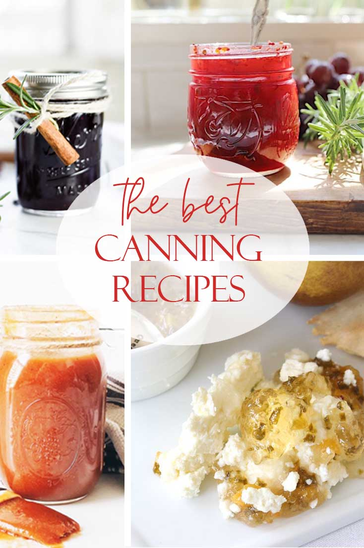 Have some extra fruit this summer? Need some of the best canning recipes? We have rounded up some yummy bbq sauce and jams to inspire you in the kitchen. Homemade jams are the best! #jams #jamrecipe #canning