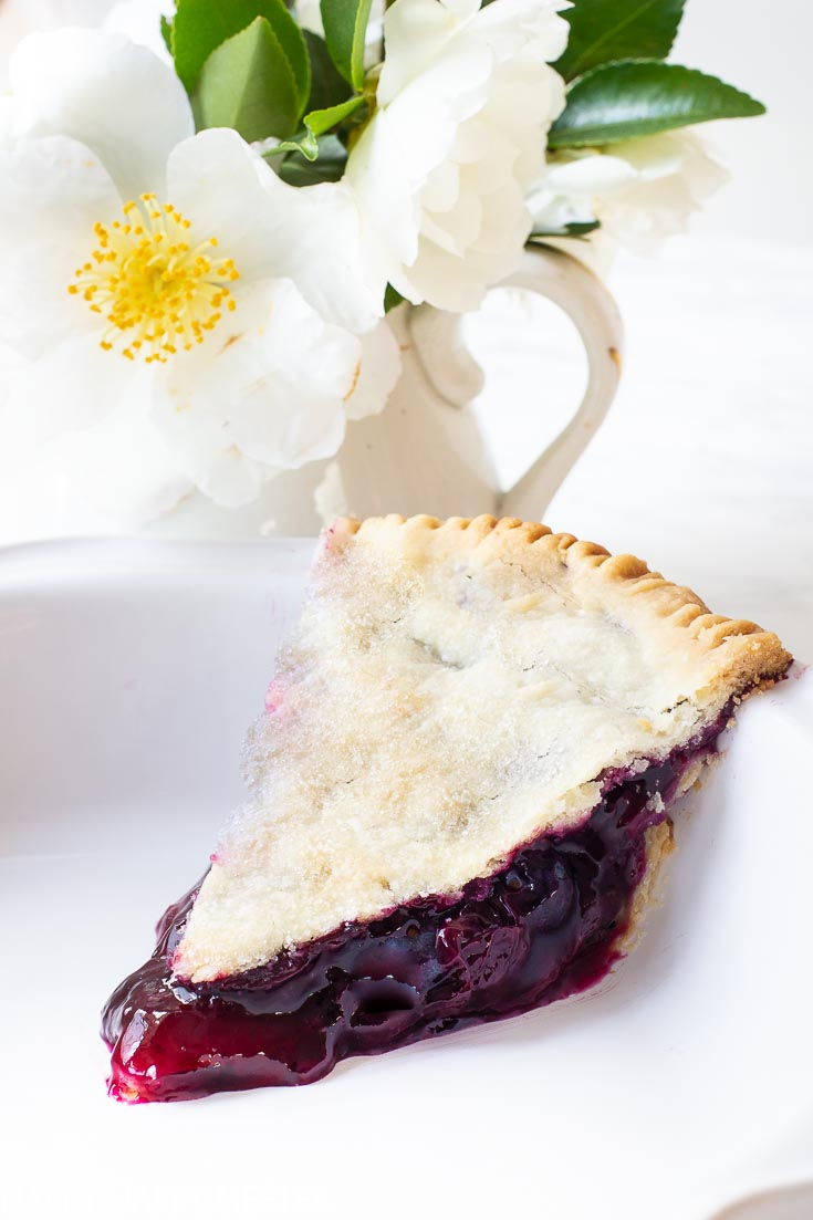 I've been making the Best Blueberry Pie Recipe for many years. And this blueberry pie filling has a smoothness that is a great combination with blueberries. #thebestblueberrypie #blueberrypie #pierecipes