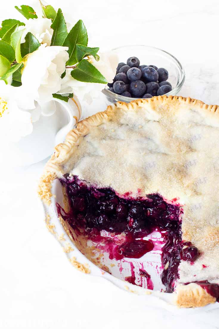 This best blueberry pie recipe is so easy to make. The special ingredient is now available in Amazon which makes this recipe very easy to make. You and your family will love this blueberry pie! #pie #blueberry #blueberrypie #recipes #baking