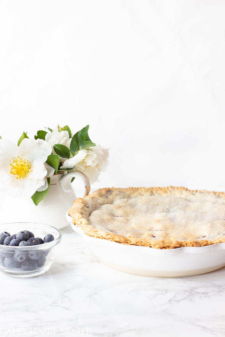 This wonderful smooth blueberry pie recipe is so easy to make. The special ingredient is now available in Amazon which makes this pie recipe very easy to make. You and your family will love this blueberry pie! #pie #blueberry #blueberrypie #recipes #baking