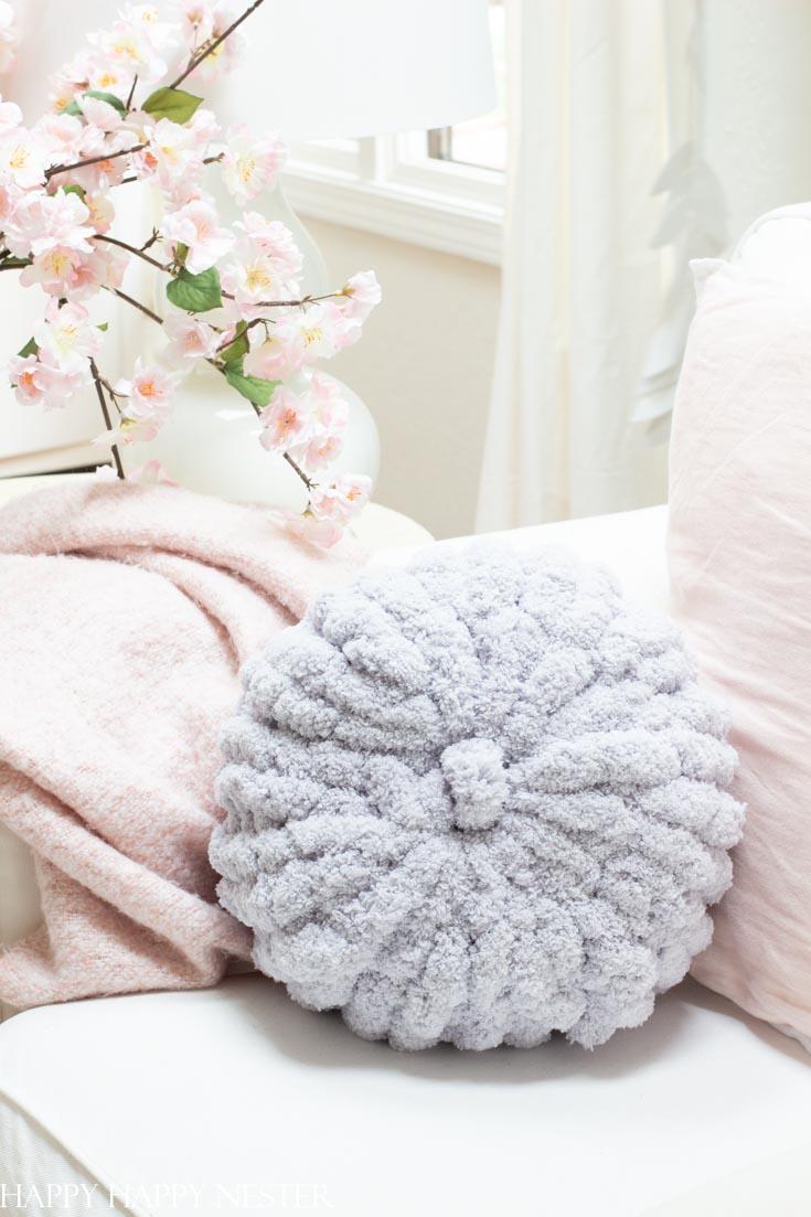 hand knitted chicken cushion