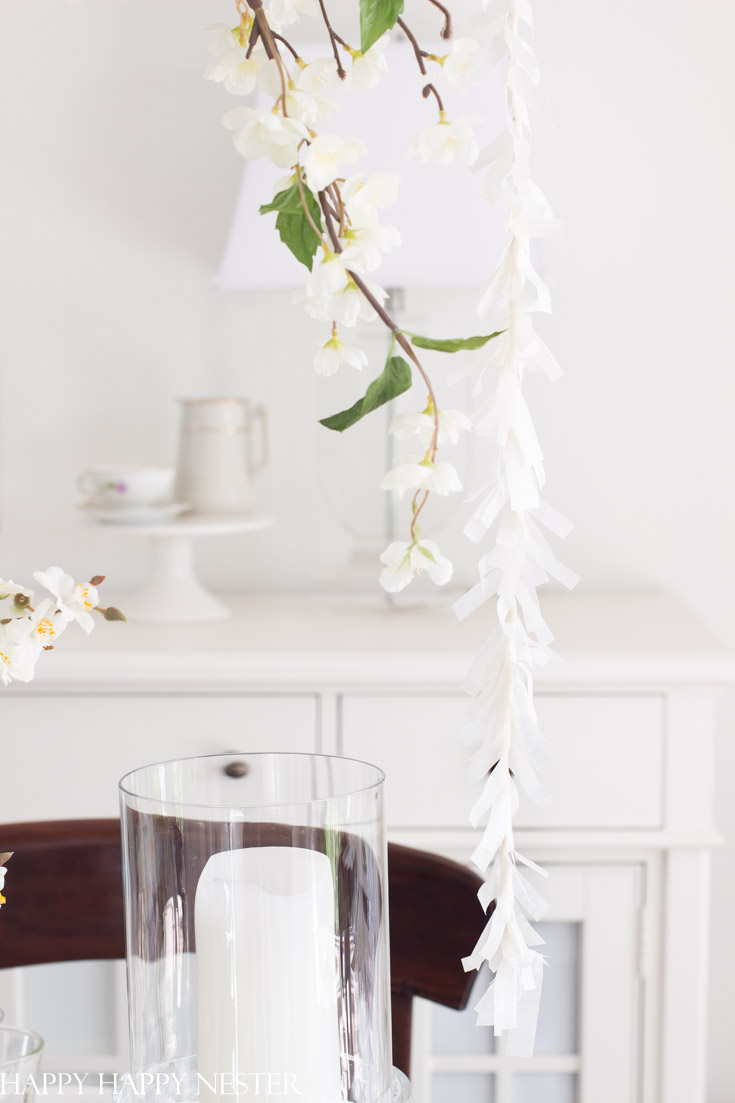 delicate floral paper garland